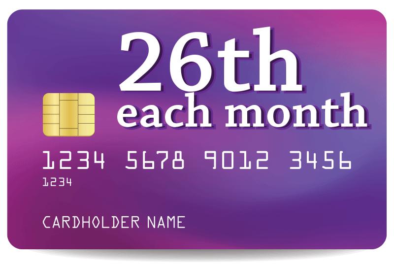 26th each month