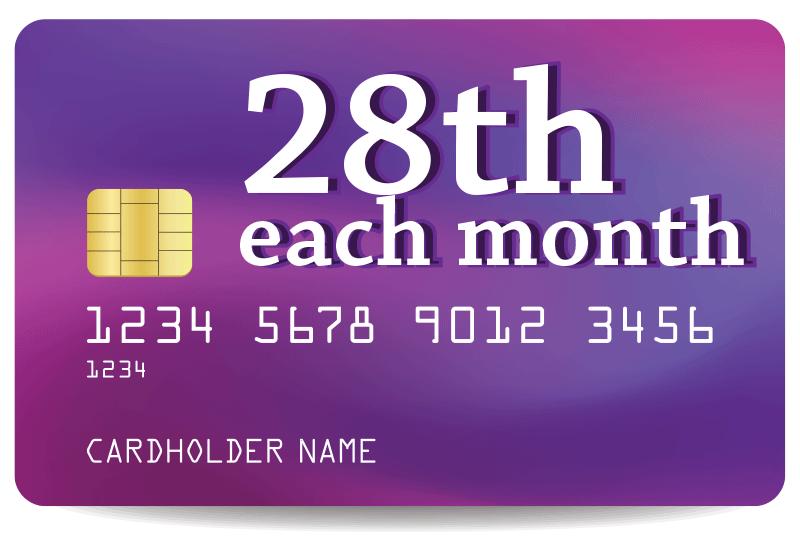 28th each month